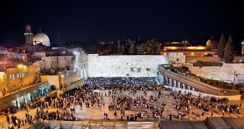 Δυτικός τοίχος, Ιερουσαλήμ, Ισραήλ στοκ εικόνα