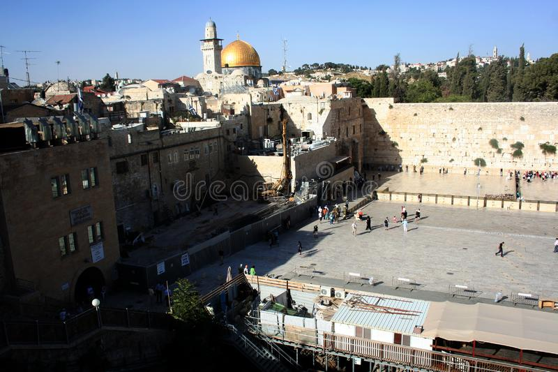Δυτικός τοίχος Ιερουσαλήμ - ο τοίχος και ο ναός Wailing τοποθετούν Ισραήλ στοκ εικόνες