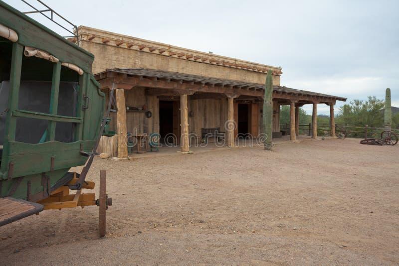 Δυτικό σπίτι Αριζόνα AZ ΗΠΑ συνοριακής πλίθας στοκ φωτογραφία