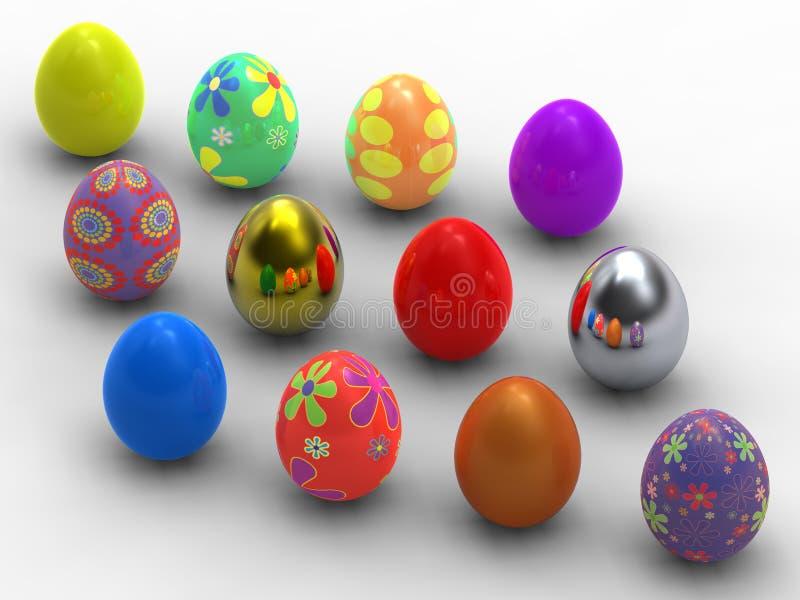 δωδεκάα αυγά Πάσχας απεικόνιση αποθεμάτων