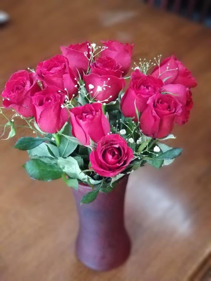 Δωδεκάα τριαντάφυλλα για το βαλεντίνο μου στοκ εικόνα με δικαίωμα ελεύθερης χρήσης