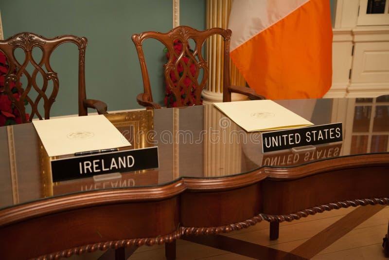 Δωδεκάμηνη ιρλανδική εργασία και ταξίδια (IWT) Μνημόνιο συμφωνίας στοκ φωτογραφία με δικαίωμα ελεύθερης χρήσης