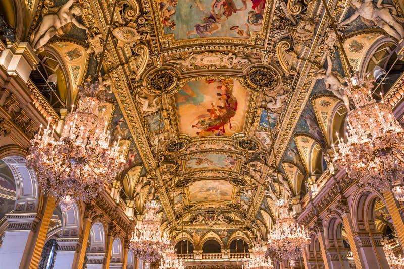 Δωμάτια υποδοχής της αίθουσας πόλεων, Παρίσι, Γαλλία στοκ φωτογραφίες