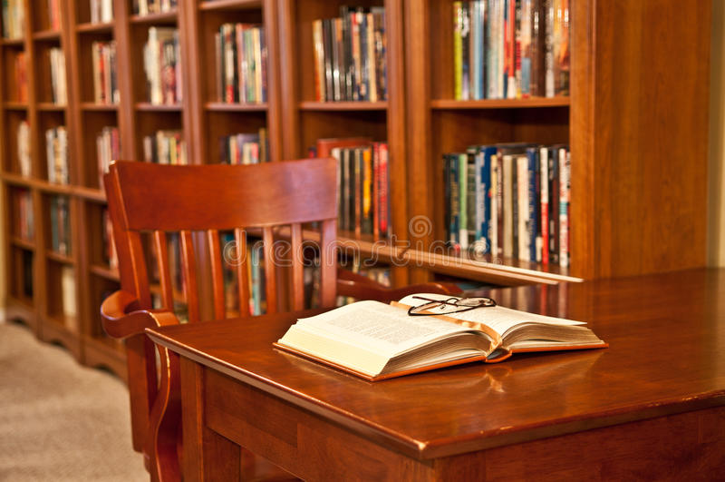 δωμάτιο ανάγνωσης βιβλι&omicro στοκ εικόνες με δικαίωμα ελεύθερης χρήσης