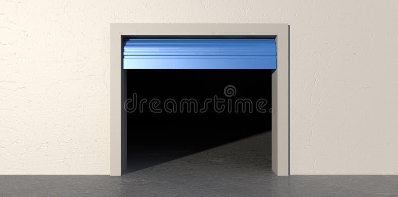 Δωμάτιο αποθήκευσης ανοικτό και κενό ελεύθερη απεικόνιση δικαιώματος