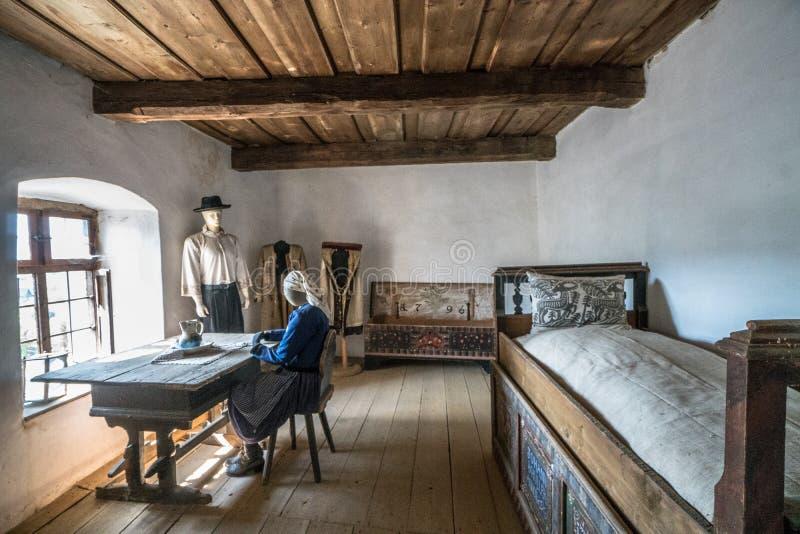 Δωμάτιο διαζυγίου στη μεσαιωνική ενισχυμένη Biertan εκκλησία στοκ φωτογραφία