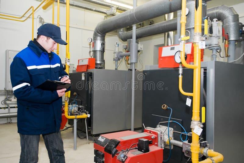 δωμάτιο θέρμανσης μηχανικώ&n στοκ εικόνες