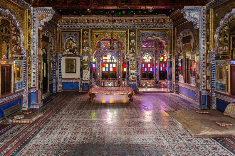 Δωμάτιο θρόνων και βασιλικό δικαστήριο του βασιλιά Marwar στοκ φωτογραφία