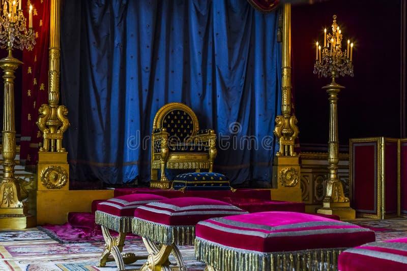 Δωμάτιο θρόνων στο Φοντενμπλώ στοκ φωτογραφία με δικαίωμα ελεύθερης χρήσης