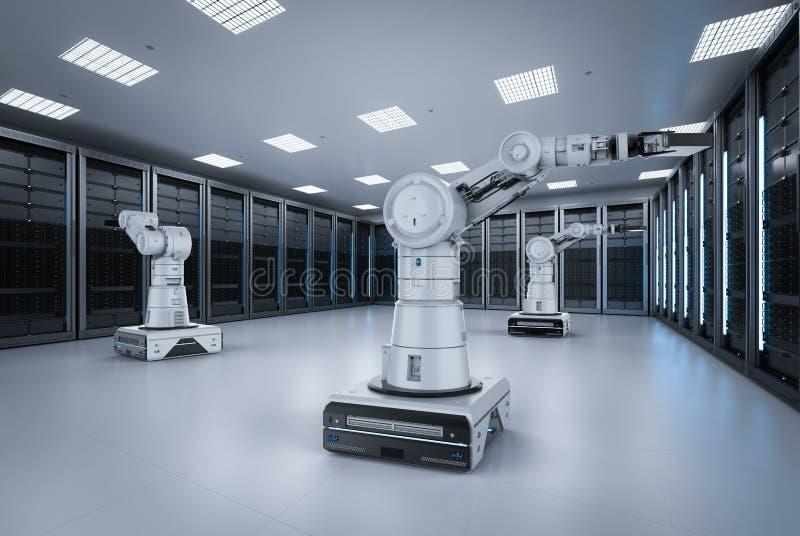 Δωμάτιο κεντρικών υπολογιστών αυτοματοποίησης ελεύθερη απεικόνιση δικαιώματος
