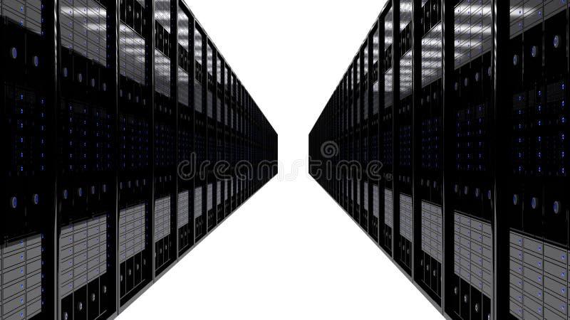 Δωμάτιο κεντρικών υπολογιστών ελεύθερη απεικόνιση δικαιώματος