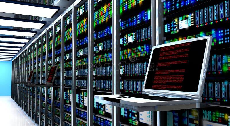 Δωμάτιο κεντρικών υπολογιστών διανυσματική απεικόνιση