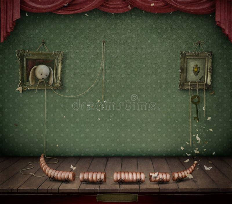 Δωμάτιο με τα παιχνίδια. διανυσματική απεικόνιση