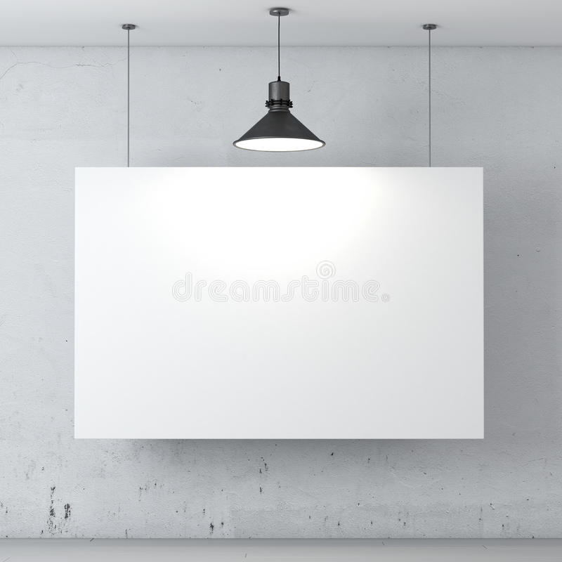 Δωμάτιο με την αφίσα στον τοίχο απεικόνιση αποθεμάτων