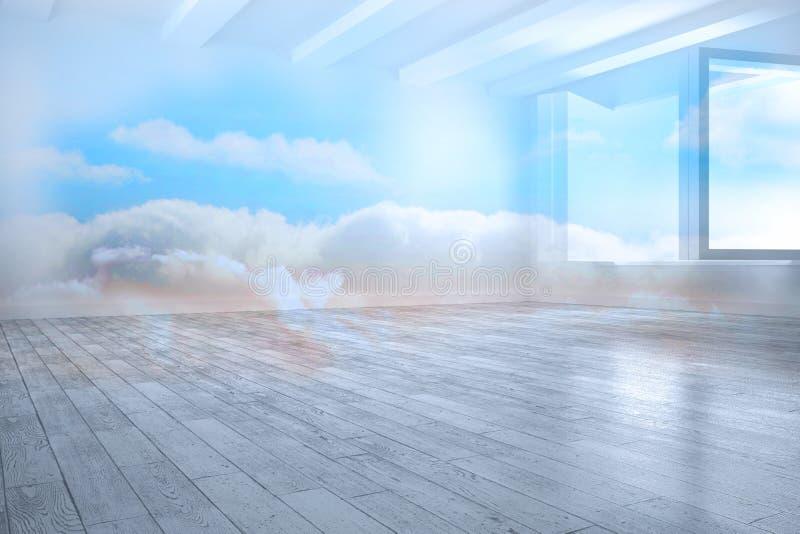 Δωμάτιο με το σύννεφο απεικόνιση αποθεμάτων
