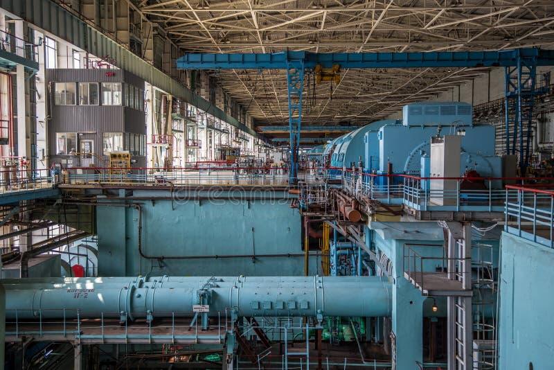 Δωμάτιο μηχανημάτων του πυρηνικού σταθμού στοκ εικόνες με δικαίωμα ελεύθερης χρήσης
