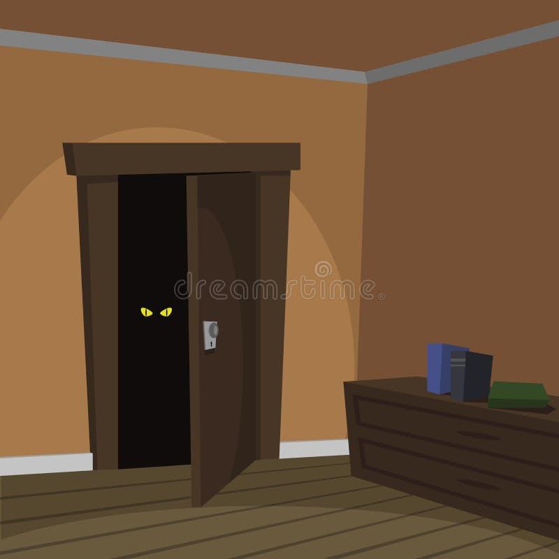 Δωμάτιο μυστηρίου διανυσματική απεικόνιση