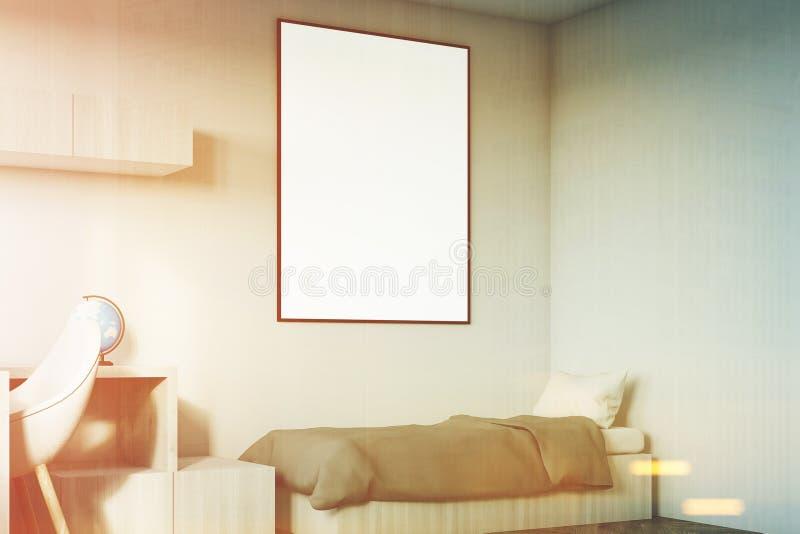Δωμάτιο παιδιών με μια γωνία αφισών που τονίζεται διανυσματική απεικόνιση