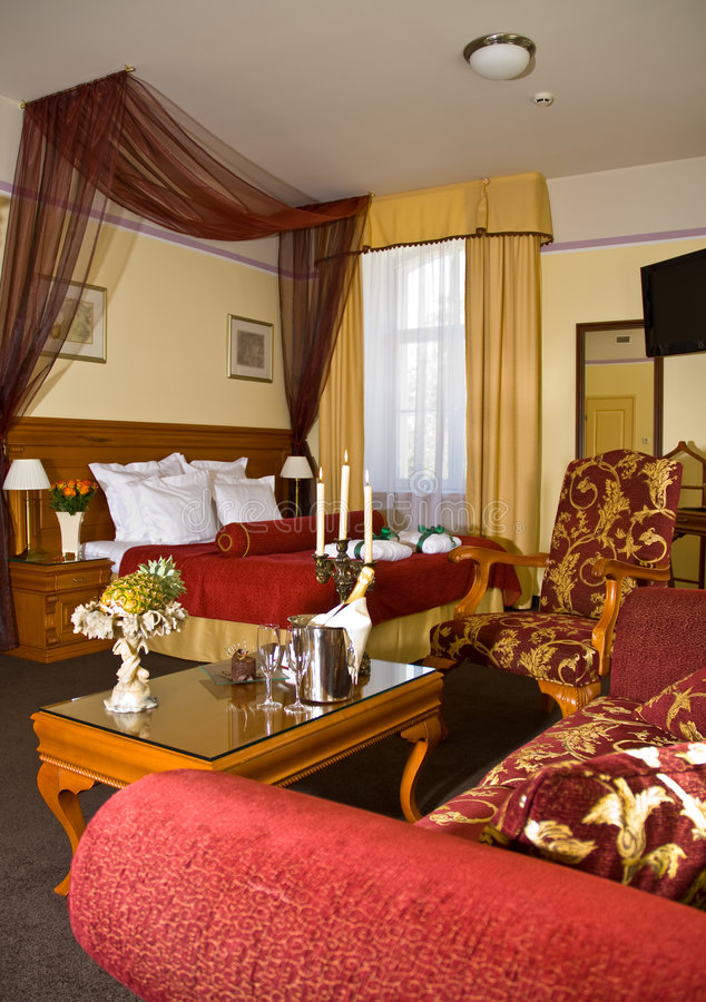 δωμάτιο πολυτέλειας ξενοδοχείων στοκ εικόνα με δικαίωμα ελεύθερης χρήσης