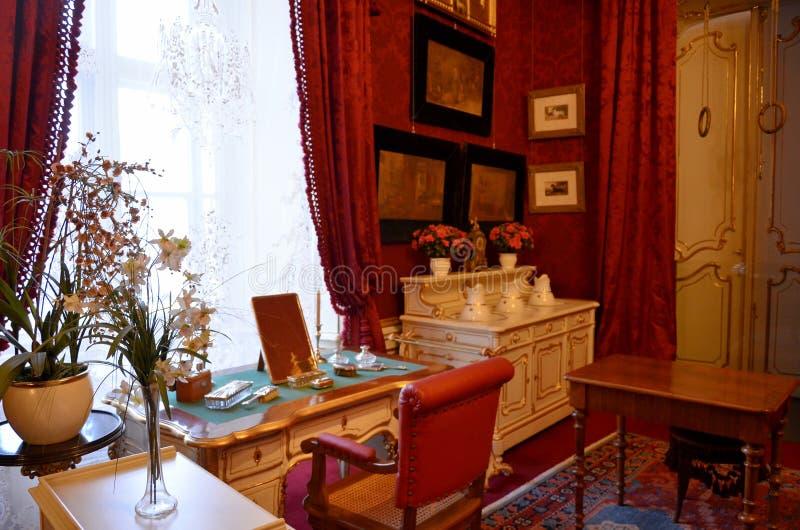 Δωμάτιο στο αυτοκρατορικό παλάτι στη Βιέννη στοκ εικόνα