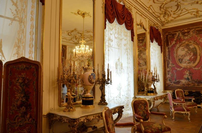 Δωμάτιο στο παλάτι στη Βιέννη στοκ φωτογραφία
