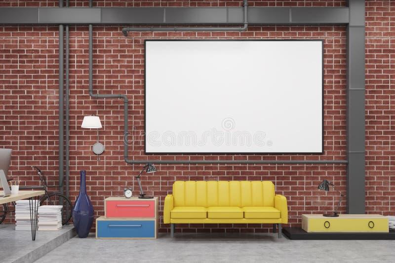 Δωμάτιο συνεδρίασης με τον καναπέ και whiteboard ελεύθερη απεικόνιση δικαιώματος