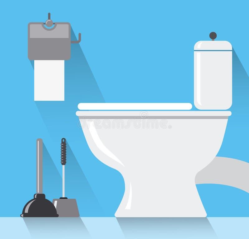 Δωμάτιο τουαλετών απεικόνιση αποθεμάτων