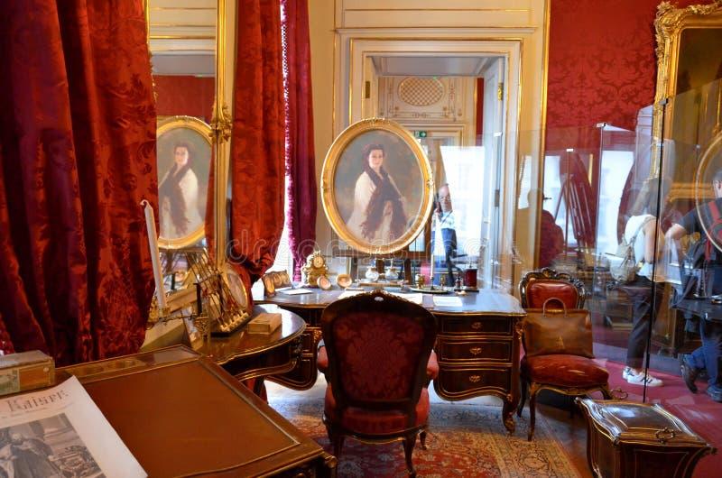 Δωμάτιο του αυτοκρατορικού μουσείου στη Βιέννη στοκ φωτογραφία