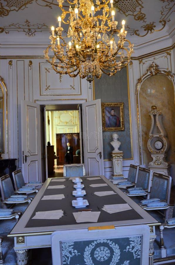 Δωμάτιο του αυτοκρατορικού μουσείου στη Βιέννη στοκ εικόνες