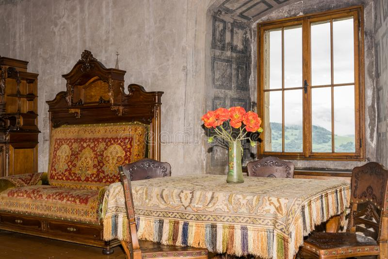 Δωμάτιο του Castle για τους κεντρικούς υπολογιστές στοκ εικόνα με δικαίωμα ελεύθερης χρήσης