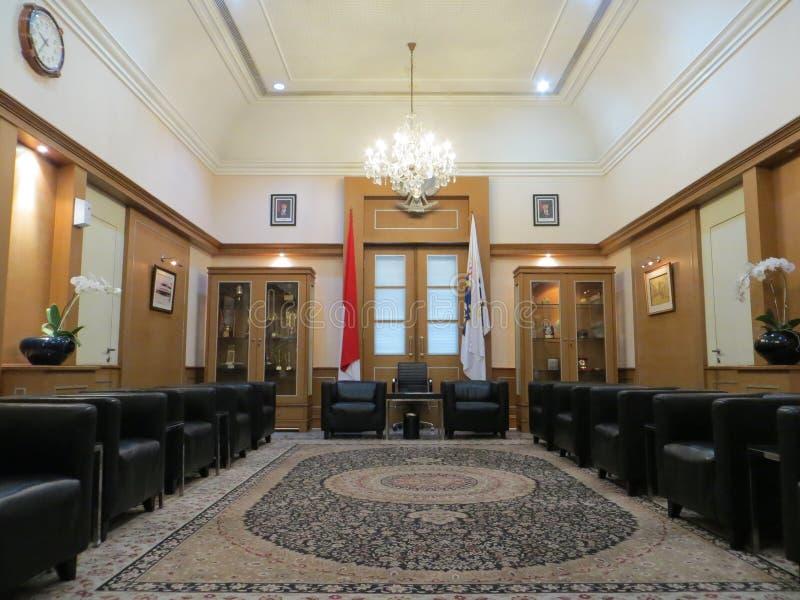 Δωμάτιο φιλοξενουμένων στην Τζακάρτα Δημαρχείο στοκ φωτογραφία με δικαίωμα ελεύθερης χρήσης