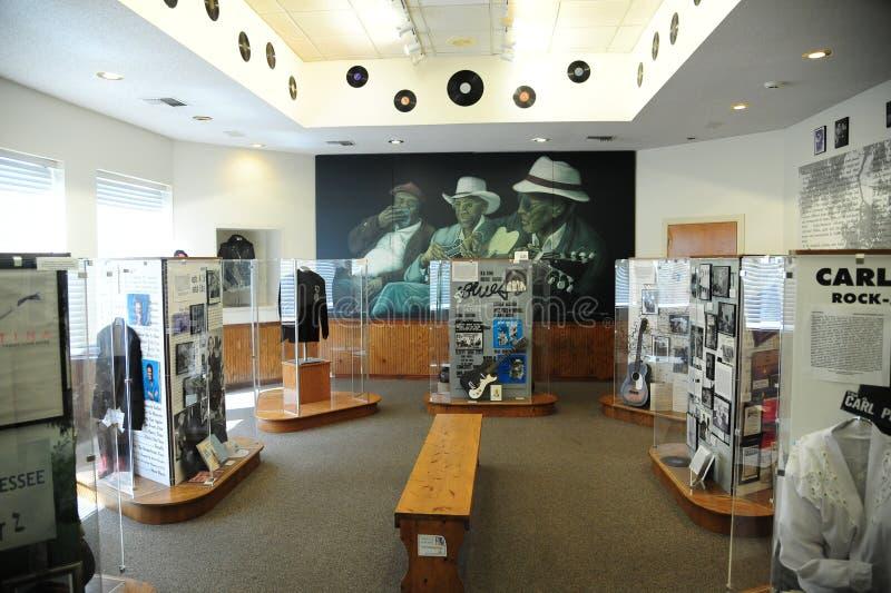 Δωμάτιο φόρου μπλε στο του δέλτα κέντρο και το μουσείο κληρονομιάς του δυτικού Τένεσι στοκ φωτογραφίες με δικαίωμα ελεύθερης χρήσης