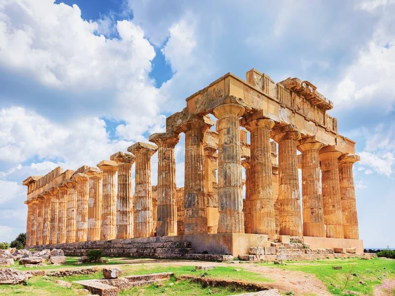 Δωρικός ναός Hera σε Selinunte στη Σικελία στοκ εικόνα με δικαίωμα ελεύθερης χρήσης