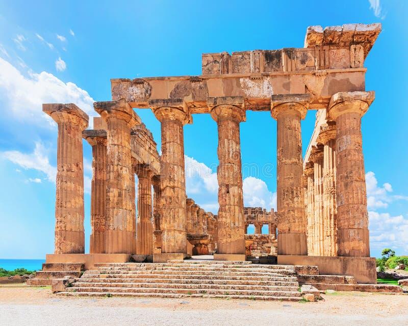 Δωρικός ναός Hera σε Selinunte στη Σικελία στοκ εικόνες με δικαίωμα ελεύθερης χρήσης