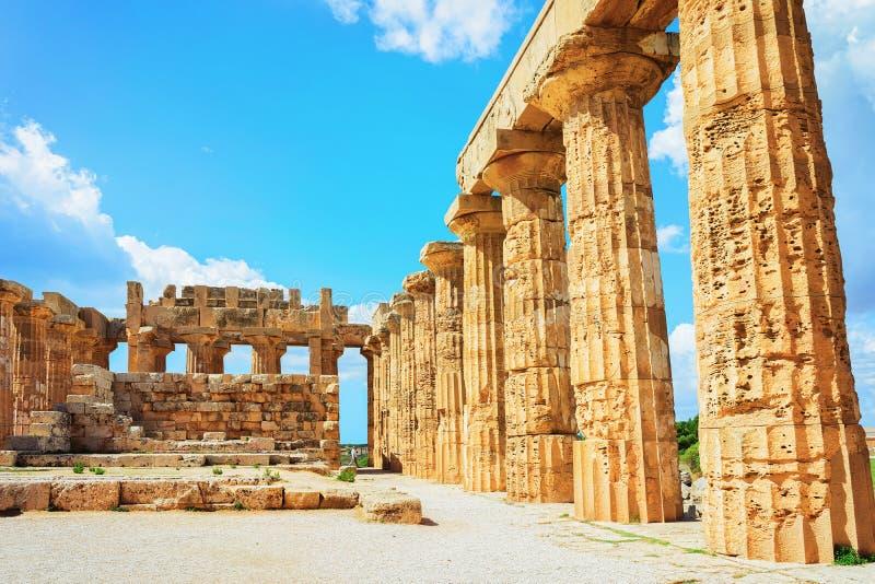 Δωρικός ναός Hera σε Selinunte στη Σικελία στοκ φωτογραφίες με δικαίωμα ελεύθερης χρήσης