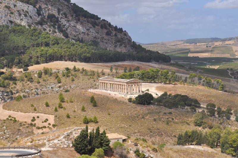 δωρικός ναός segesta στοκ εικόνα