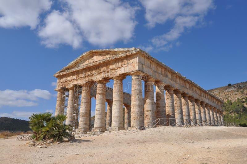 δωρικός ναός segesta στοκ φωτογραφία