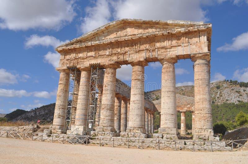 δωρικός ναός segesta στοκ εικόνα με δικαίωμα ελεύθερης χρήσης