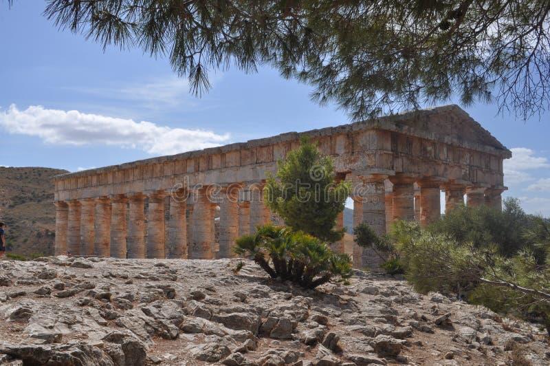 δωρικός ναός segesta στοκ φωτογραφίες με δικαίωμα ελεύθερης χρήσης