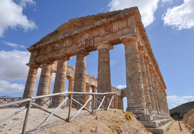 δωρικός ναός segesta στοκ εικόνες