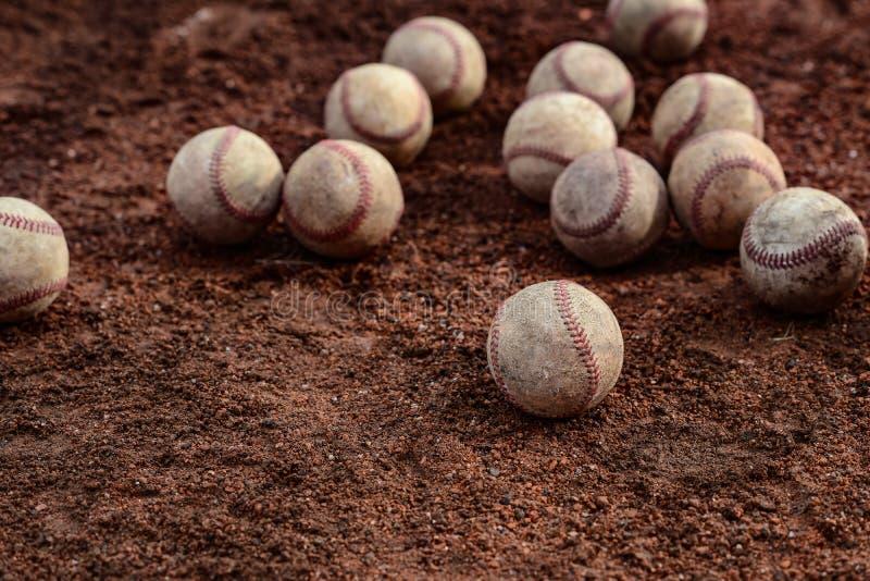 Δωδεκάδες των baseballs στοκ εικόνα