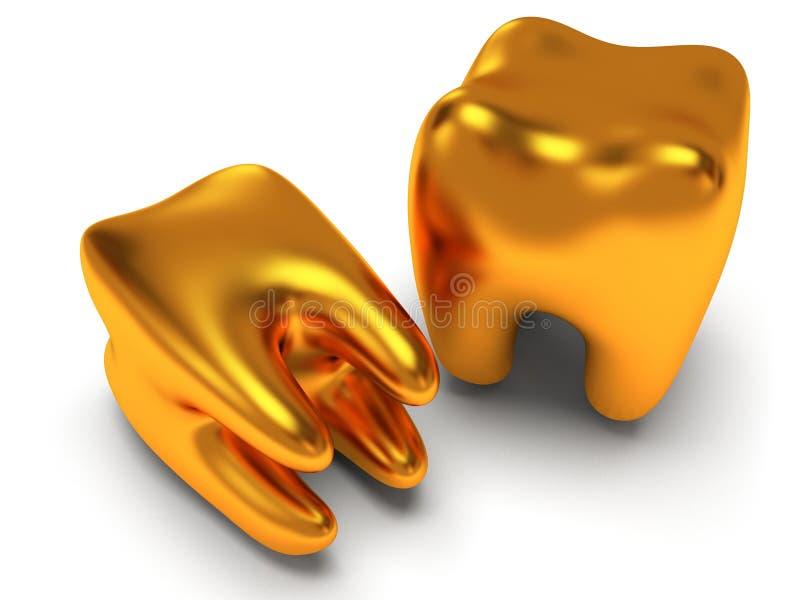 Δόντια στην άσπρη πλάτη. απεικόνιση αποθεμάτων