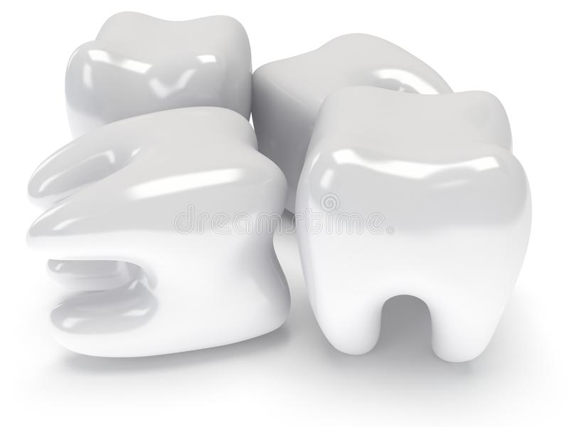 Δόντια στην άσπρη πλάτη. διανυσματική απεικόνιση