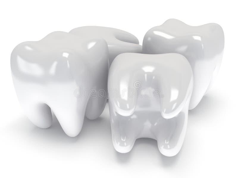 Δόντια στην άσπρη πλάτη. ελεύθερη απεικόνιση δικαιώματος