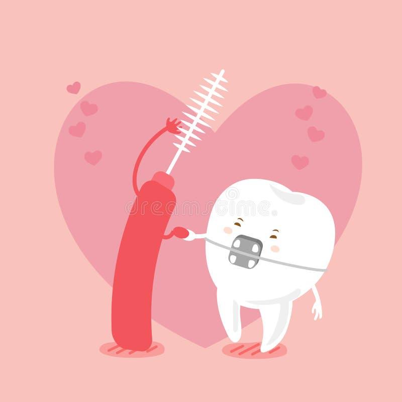 Δόντι και βούρτσα ελεύθερη απεικόνιση δικαιώματος
