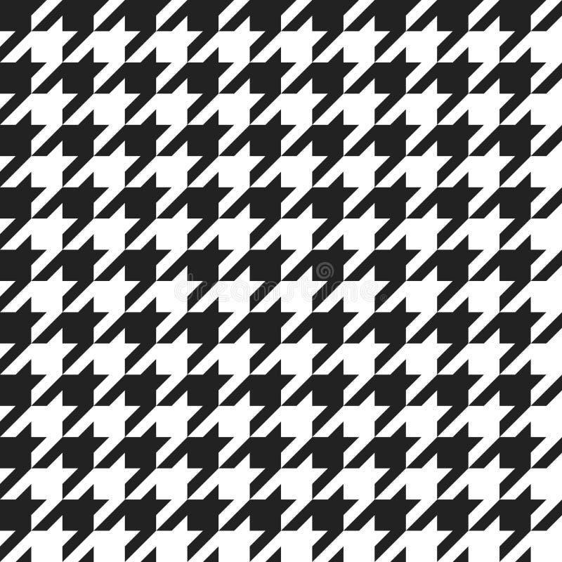 Δόντι κυνηγόσκυλων - αναδρομικό γεωμετρικό σχέδιο για τη μόδα ιματισμού Θάλασσα διανυσματική απεικόνιση