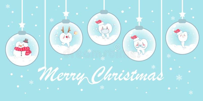 Δόντι με τα Χριστούγεννα διανυσματική απεικόνιση