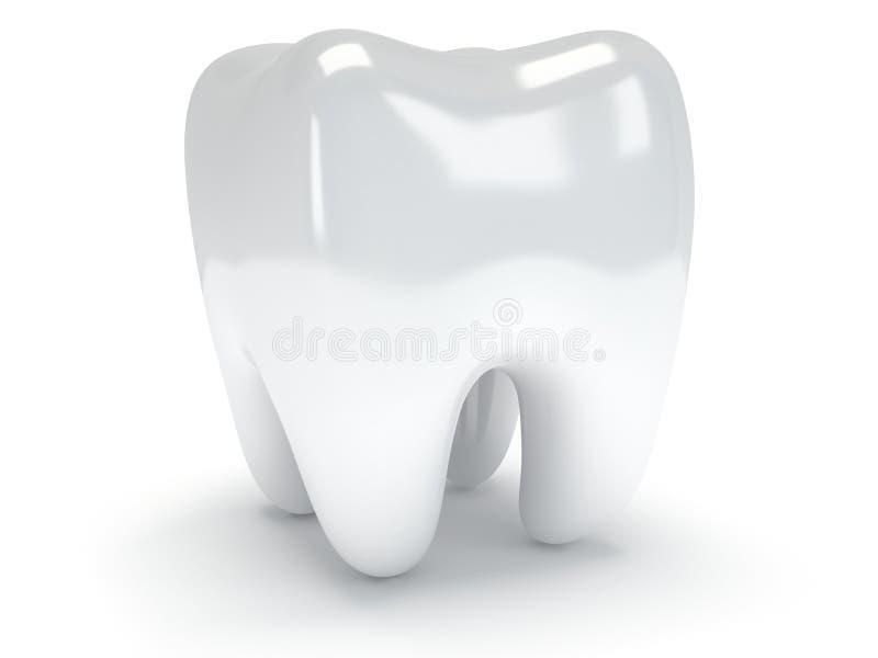 Δόντι στην άσπρη πλάτη. απεικόνιση αποθεμάτων