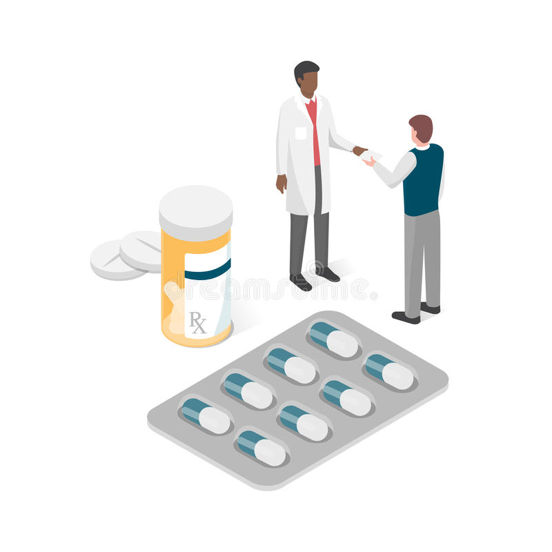 Δόσιμο γιατρών  μια συνταγή απεικόνιση αποθεμάτων