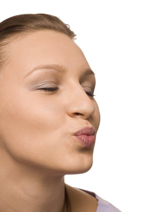 δόσιμο της γυναίκας φιλι στοκ εικόνα